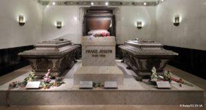 Sarkophage Franz Josephs und seiner Familie in der Kapuzinergruft