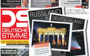 Mai-Ausgabe der DS: »Russland und Deutschland – statt NATO und…